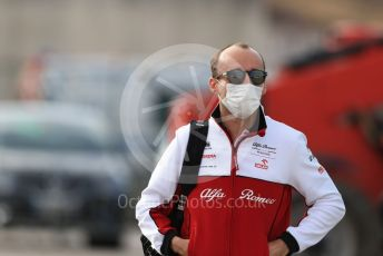 World © Octane Photographic Ltd. Formula 1 – F1 Portuguese GP, Paddock. Alfa Romeo Racing Orlen C39 Reserve Driver – Robert Kubica. Autodromo do Algarve, Portimao, Portugal. Friday 23rd October 2020.