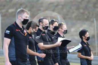 World © Octane Photographic Ltd. Formula 1 – F1 Portuguese GP, Track Walk. Haas F1 Team VF20 – Romain Grosjean and Pietro Fittipaldi. Autodromo do Algarve, Portimao, Portugal. Thursday 22nd October 2020.