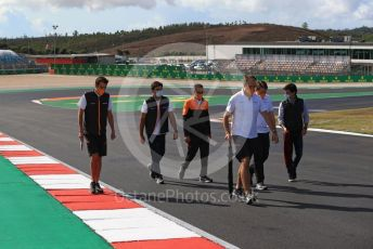World © Octane Photographic Ltd. Formula 1 – F1 Portuguese GP, Track Walk. McLaren MCL35 – Carlos Sainz. Autodromo do Algarve, Portimao, Portugal. Thursday 22nd October 2020.