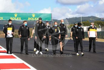 World © Octane Photographic Ltd. Formula 1 – F1 Portuguese GP, Track Walk. Renault Sport F1 Team RS20 – Esteban Ocon and Jack Aitken. Autodromo do Algarve, Portimao, Portugal. Thursday 22nd October 2020.