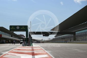 World © Octane Photographic Ltd. Formula 1 – F1 Portuguese GP. Main grandstand and pit exit Autodromo do Algarve, Portimao, Portugal. Thursday 22nd October 2020.