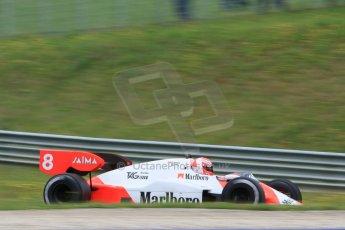 World © Octane Photographic Ltd. Sunday 21st June 2015. F1 Legends Parade – Red Bull Ring, Spielberg, Austria. 1984 Marlboro McLaren MP4-2 - Niki Lauda. Digital Ref. : 1321CB7D7517