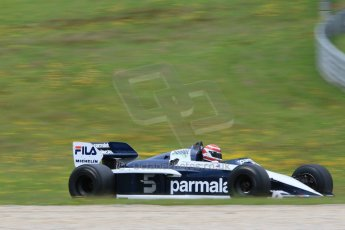 World © Octane Photographic Ltd. Sunday 21st June 2015. F1 Legends Parade – Red Bull Ring, Spielberg, Austria. 1983 Brabham BT52 - Nelson Piquet. Digital Ref. : 1321CB7D7526
