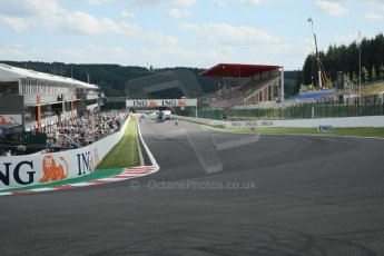 World © Octane Photographic. Belgian GP - Spa Francorchamps, 27th August 2009. La Source Hairpin. Digital Ref :