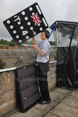 © Octane Photographic 2010. British F3 – Thruxton . T-Sport pitwall. 7th August 2010. Digital Ref : CB5D3766