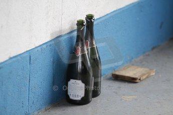 © Octane Photographic 2010. British F3 – Thruxton . 8th August 2010. Jean-Eric Vergne's victory bottles. Digital Ref : CB1D9943