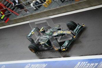 © Octane Photographic 2010. 2010 F1 Belgian Grand Prix, Friday August 27th 2010. Lotus T127 - Heikki Kovalainen. Digital Ref : 0030CB1D0068