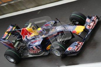 © Octane Photographic 2010. 2010 F1 Belgian Grand Prix, Friday August 27th 2010. Red Bull RB6 - Mark Webber. Digital Ref : 0030CB1D0098