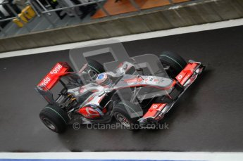 © Octane Photographic 2010. 2010 F1 Belgian Grand Prix, Friday August 27th 2010. McLaren MP4/25 - Jenson Button. Digital Ref : 0030CB1D0150