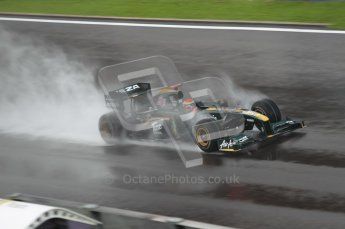 © Octane Photographic 2010. 2010 F1 Belgian Grand Prix, Friday August 27th 2010. Lotus T127 - Jarno Trulli. Digital Ref : 0030CB1D0714
