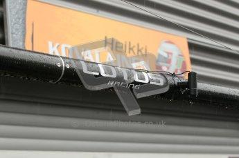 © Octane Photographic 2010. 2010 F1 Belgian Grand Prix, Friday August 27th 2010. Lotus grage - Heikki Kovalainen. Digital Ref : 0030CB1D1066