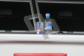 © Octane Photographic 2010. 2010 F1 Belgian Grand Prix, Friday August 27th 2010. Red Bull water. Digital Ref : 0030CB1D1147