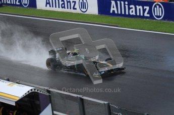 © Octane Photographic 2010. 2010 F1 Belgian Grand Prix, Friday August 27th 2010. Lotus T127 - Heikki Kovalainen. Digital Ref : LW7D083