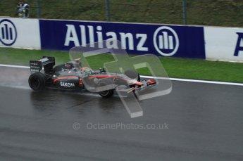 © Octane Photographic 2010. 2010 F1 Belgian Grand Prix, Friday August 27th 2010. Hispania F110 - Sakon Yamamoto. Digital Ref : 0030LW7D9893