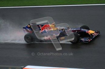 © Octane Photographic 2010. 2010 F1 Belgian Grand Prix, Friday August 27th 2010. Red Bull RB6 - Sebastian Vettel. Digital Ref : 0030LW7D9901