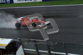 © Octane Photographic 2010. 2010 F1 Belgian Grand Prix, Friday August 27th 2010. Ferrari F10 - Felipe Massa. Digital Ref : 0030LW7D9910