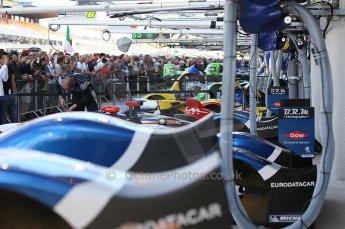 2010 Le Mans 24 Hour (24 Heures du Mans), 11th June 2010. Huge crowds in the pit lane. Digital ref : CB1D1992