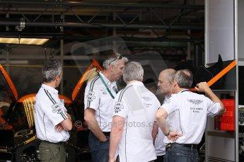 2010 Le Mans 24 Hour (24 Heures du Mans), 11th June 2010. Aston Martin Racing - Lola B09/60-Aston Martin garage. Digital ref : CB1D2155