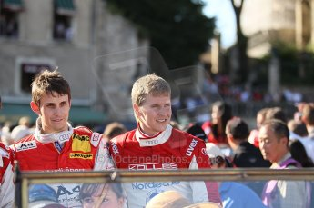 2010 Le Mans 24 Hour (24 Heures du Mans), 11th June 2010. Drivers' parade. Kolles - Oliver Jarvis, Christian Bakkerud. Digital ref : CB1D2525