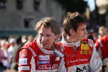 2010 Le Mans 24 Hour (24 Heures du Mans), 11th June 2010. Drivers' parade. Kolles - Christian Albers, Oliver Jarvis. Digital ref : CB1D2528