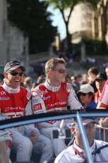 2010 Le Mans 24 Hour (24 Heures du Mans), 11th June 2010. Drivers' parade. Audi Sport Team Joest - Rinaldo Capello, Allan McNish. Digital ref : CB1D2265