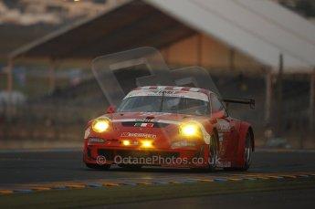 2010 Le Mans, Sunday June 13th 2010. Dunlop Chicane at dawn. Digital Ref : CB1D5145