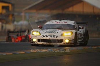 2010 Le Mans, Sunday June 13th 2010. Dunlop Chicane at dawn. Digital Ref : CB1D5232