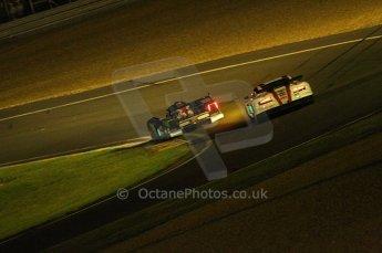 2010 Le Mans, Saturday June 12th 2010. Chapelle/Tertre Rouge at night. Digital Ref : CB1D4717