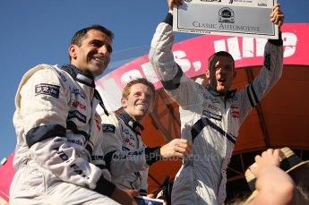 2010 Le Mans 24 Hour (24 Heures du Mans), 11th June 2010. Drivers' parade. Team Peugeot Total - Marc Gene, Anthony Davidson, Alexander Wurz. Digital ref : LW40D2842