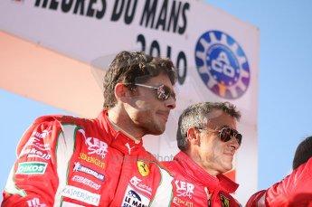2010 Le Mans 24 Hour (24 Heures du Mans), 11th June 2010. Drivers' parade. AF Corse SRL - Giancarlo Fisichella, Jean Alesi. Digital ref : LW40D2926