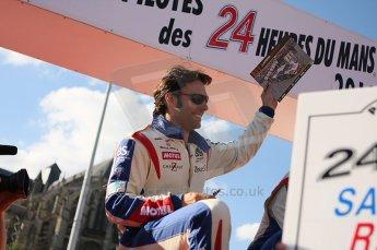 2010 Le Mans 24 Hour (24 Heures du Mans), 11th June 2010. Drivers' parade. Larbre Competition - Gabriele Gardel. Digital ref : LW40D3008