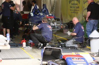2010 Le Mans 24 Hour (24 Heures du Mans), 11th June 2010. Beechdeen Mansell - Ginetta-Zytek 09S garage. Digital ref : LW40D1992