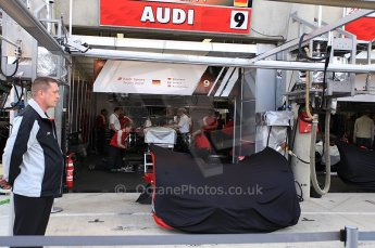2010 Le Mans 24 Hour (24 Heures du Mans), 11th June 2010. Audi Sport North America - Audi R16 plud TDI - garage. Digital ref : CB5D3082