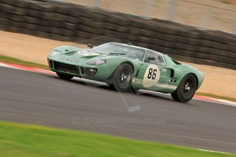 © Octane Photographic Ltd. 2010 Masters Racing - Donington September 4th 2010. Sports Racing Masters. Ford GT40 Mk.I - David Foresby/Andrew Newall. Digital Ref : CB7D6338
