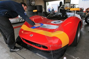 © Octane Photographic Ltd. 2010 Masters Racing - Donington September 4th 2010. McLaren M1C in its garage. Digital Ref : CB5D9815