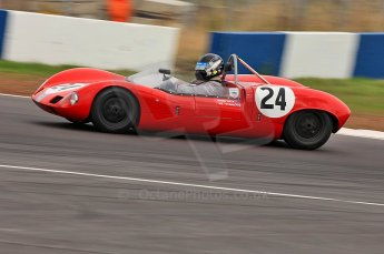 © Octane Photographic Ltd. 2010 Masters Racing - Donington September 4th 2010. Sports Racing Masters. Elva Mk.VII - Roger Wills. Digital Ref : CB5D9951