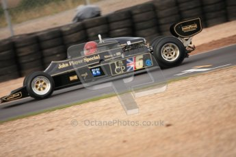 World © Octane Photographic 2010. 2010 Donington Revived! meeting, September 4th 2010. MastersGP - Historic Formula 1, Historic F1. Lotus 87B3 - Nico Bindels. Digital ref : 0029CB7D0053