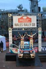 © North One Sport Limited 2010/ Octane Photographic Ltd. 2010 WRC Great Britain Podium, Sunday 14th November 2010. Digital ref : 0114lLW1D1203