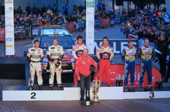 © North One Sport Limited 2010/ Octane Photographic Ltd. 2010 WRC Great Britain Podium, Sunday 14th November 2010. Digital ref : 0114LW1D1605