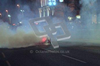World © Octane Photographic 2010. 2010 Red Bull City Limits street demo Belfast, David Coulthard. Digital ref : 0027CB1D4078