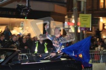 World © Octane Photographic 2010. 2010 Red Bull City Limits street demo Belfast, David Coulthard. Digital ref : 0027CB7D0052