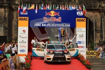 © North One Sport Ltd. 2010 / Octane Photographic Ltd. 2010 WRC Germany Podium, 23st August 2010. Digital Ref: 0212lw7d8494