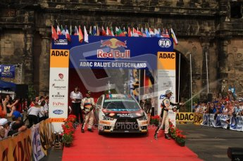 © North One Sport Ltd. 2010 / Octane Photographic Ltd. 2010 WRC Germany Podium, 23st August 2010. Digital Ref: 0212lw7d8515