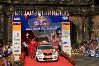 © North One Sport Ltd. 2010 / Octane Photographic Ltd. 2010 WRC Germany Podium, 23st August 2010. Digital Ref: 0212lw7d8576