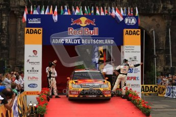 © North One Sport Ltd. 2010 / Octane Photographic Ltd. 2010 WRC Germany Podium, 23st August 2010. Digital Ref: 0212lw7d8879