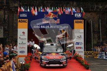 © North One Sport Ltd. 2010 / Octane Photographic Ltd. 2010 WRC Germany Podium, 23st August 2010. Digital Ref: 0212lw7d8969