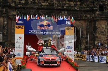 © North One Sport Ltd. 2010 / Octane Photographic Ltd. 2010 WRC Germany Podium, 23st August 2010. Digital Ref: 0212lw7d9183