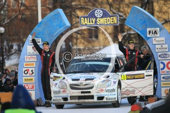© North One Sport Ltd.2010 / Octane Photographic Ltd.2010. WRC Sweden Podium, February 14th 2010. Digital Ref : 0138CB1D2994
