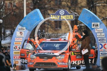 © North One Sport Ltd.2010 / Octane Photographic Ltd.2010. WRC Sweden Podium, February 14th 2010. Digital Ref : 0138CB1D3088