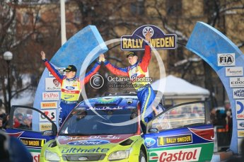 © North One Sport Ltd.2010 / Octane Photographic Ltd.2010. WRC Sweden Podium, February 14th 2010. Digital Ref : 0138CB1D3123